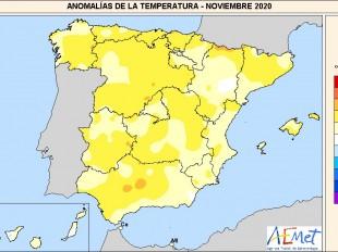 El noviembre más cálido de la última década en España